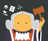 Judge with a hammer — Stock Vector