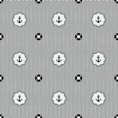 Anchor and lifebuoy pattern — Stockvektor