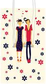 Couple in love card — Stock Vector