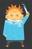 Scientist or teacher — Vettoriale Stock
