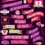 Set of ribbon valentine's design, vector — Stock Vector #40015415