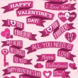 A set of valentine's design, vector — Stock Vector