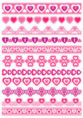 Set of Lace Paper with heart, vector — Stock Vector