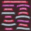 A set of valentine's design, vector — Stock Vector #40077529