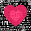 Black background with  red valentine heart and wishes text — Stockvector  #40077565