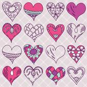 Hand drawing valentines heart, vector — Stock Vector