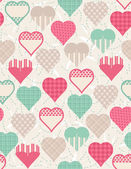 Wrapping paper with hearts, vector — Stock Vector