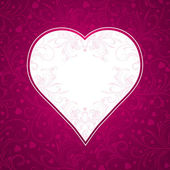 Pink background with big heart — Stok Vektör