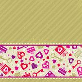 Beige valentine background, vector — Vector de stock