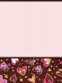 Rosa valentinstag hintergrund, vektor — Stockvektor