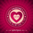 Red valentines day greeting card with hearts, vector — Stock Vector #40131081