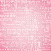 Pink background with valentine hearts and wishes text, vector — 图库矢量图片