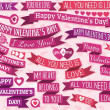 Set of many ribbon valentine's design, vector — Stock Vector #40249415