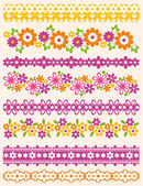 Set of Lace Paper with flower, vector — Stockvektor