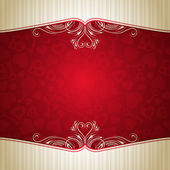 Red valentine background, vector — Stock Vector