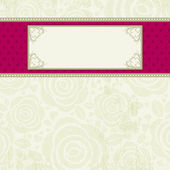 Beige valentine background, vector — Stock Vector