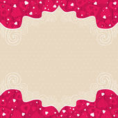 Valentines background with pink hearts — Stock Vector