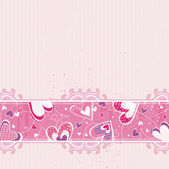 Pink valentines background, vector — Stock Vector