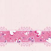 Pink valentines background, vector — Stock Vector