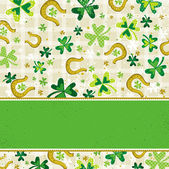 Card for St. Patrick's Day — Stock Vector