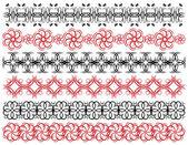Six decorative lines,  vector — Stockvektor