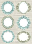 Decorative circle labels,vector — Stock Vector