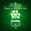 Stock Vector: Card for St. Patrick's Day with text and shamrock, vector