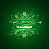 Card for St. Patrick's Day with text and many shamrocks, vector — Stock Vector