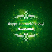 Card for St. Patrick's Day with text and many shamrocks — Stock Vector