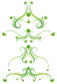 Decorative ornament  with lovely shamrock , vector illustration — Stock Vector