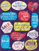 Labels and banners for christmas — Vettoriale Stock