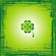 Green Clover for St. Patrick's Day — Stock Vector