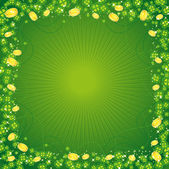 Clovers, St. Patrick's day background — Stock Vector