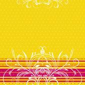 Gele achtergrond met decoratieve ornamenten, vectorillustratie — Stockvector