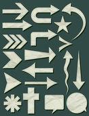 Many crumple shapes, vector  — Stock Vector