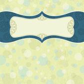 Label on beige background,  vector illustration — Stock Vector