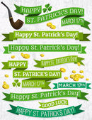 Set of ribbon for St. Patrick's Day, vector illustration — Stock Vector