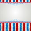 Usa background with stars and decorative frames — Stock Vector #42645105