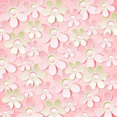 Pink  background with many flowers,  vector  — 图库矢量图片