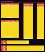 Yellow modern  banners, vector — Stock Vector
