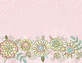 Hand draw  flowers on pink  background — Wektor stockowy