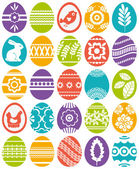 Set of colour easter eggs, vector — Vector de stock