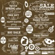 Set of easter sale offer labels and banners, vector — Stock Vector