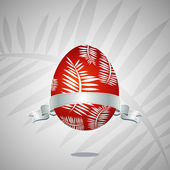 Red easter egg — Stock Vector