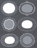 Decorative circle labels suitable for design, vector — Stock Vector
