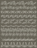 Set of Lace Paper with flower, vector — Stockvector