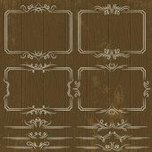 Florais decorativas ornamentais regras, divisores, vetor — Vetor de Stock