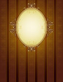 Brown classical background, vector — Vettoriale Stock