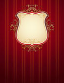 Red classical background, vector — Vecteur