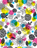 Background of hand draw  flowers, vector  — 图库矢量图片